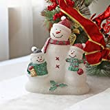 Snowman Family Real Wax Battery Operated LED Candles with Timer for Christmas Gift and Home Decoration