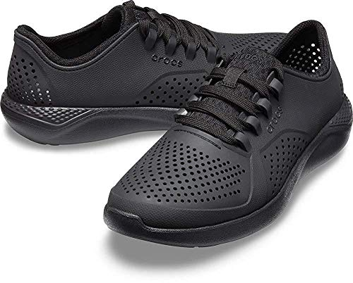 Crocs Men's LiteRide Pacer Sneaker, Black, 11 M US