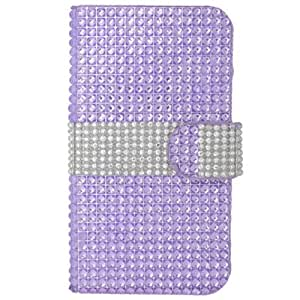 Baby Light Purple Bling Rhinestone Pouch Wallet Case Cover For LG Volt LS740 with Free Pouch