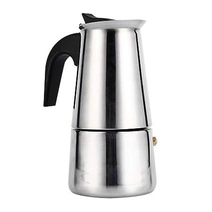 Cafetera para hacer espresso, cafetera italiana reutilizable de café Moka con mango de baquelita Moka Express para la casa, la oficina.(200ml)