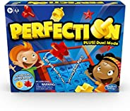 Hasbro Gaming Perfection Game Plus 2-Player Duel Mode Popping Shapes and Pieces Ages 5 and Up (Amazon Exclusiv
