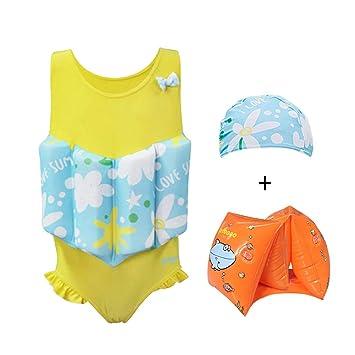 M&A - Traje de baño para niñas con flotabilidad extraíble y ...