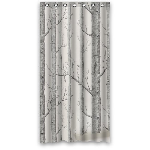 Amazon WECE Home Tree Shower Curtain 36 X 72 With 7 Holes Clothing