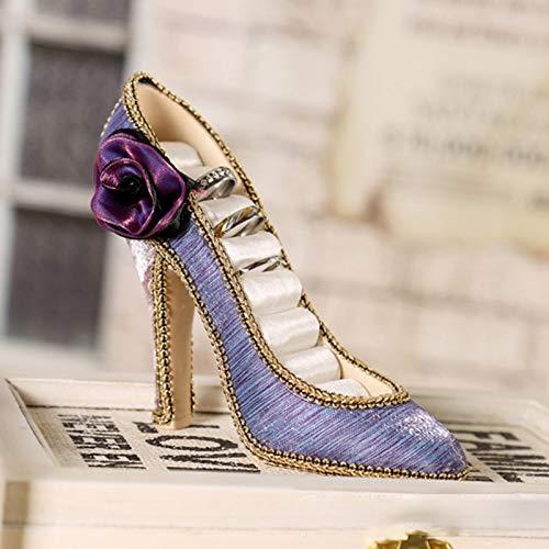 Mackur Joyero Soporte para Anillo Soporte Soporte Elegante Forma de Zapato Joyas Soporte de Almacenamiento para Joyas Anillos Pendientes 15/* 12/* 5/cm 1/Pieza