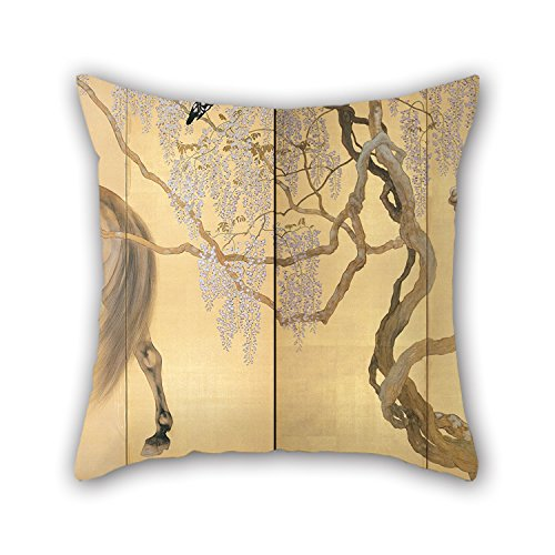 [Slimmingpiggy Throw Pillow Covers Of Oil Painting Hashimoto Kansetsu - Visiting A Hermit,for Birthday,festival,adults,bar,boy Friend,couch 16 X 16 Inches / 40 By 40 Cm(twice] (Angel Costume Tumblr)