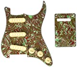 Kmise Z4705 Set Breen Shell Guitar Pickguard Back Plate Tremolo Cavity & Pickup Cover