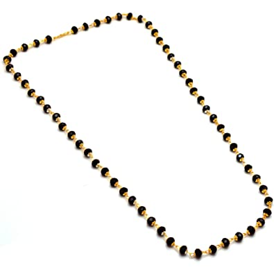 marilyn beads with pendant bead necklace chain black product gold s long and