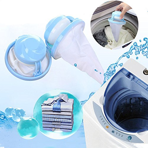 1 PC Upgrade Floating Mesh Filter Bag Washing Machine Wool Filtration Hair Removal Device Laundry Ball Cleaning Tools(Random Color)