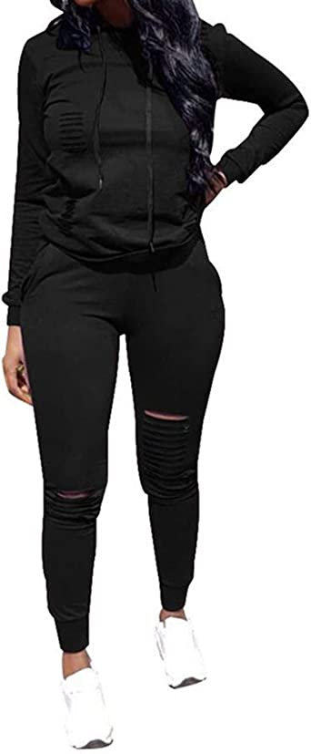 Top Vigor Womens 2pcs Plus Size Sweatsuits Set Long Sleeve Hoodie And Bodycon Pants Jogging Suit Tracksuit For Women Ladies At Amazon Women S Clothing Store
