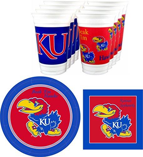 (Westrick Kansas Jayhawks Party Supplies - 48 Pieces (Serves)