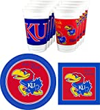 Westrick Kansas Jayhawks Party Supplies - 48 Pieces