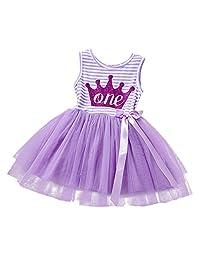 Baby Girls Princess 1st/2nd Birthday Cake Smash Tulle Dress Toddler Kids Outfit