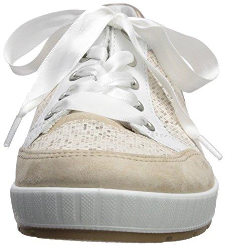 Ara Baskets Blanc Femmes Ara Pixel Taupe Blanc Nicole FxwtZdqzw