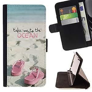 Cao - FOR Sony Xperia M2 - take me to the ocean - Personalizada del estilo del dise?¡Ào de la PU Caso de encargo del cuero del tir??n del soporte de la