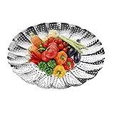 "Nanan Premium Vegetable Steamer Basket ,5.5""-9.3""-100% Stainless Steel- Pressure Cooker Safe -Adjust to Various Pot Sizes"