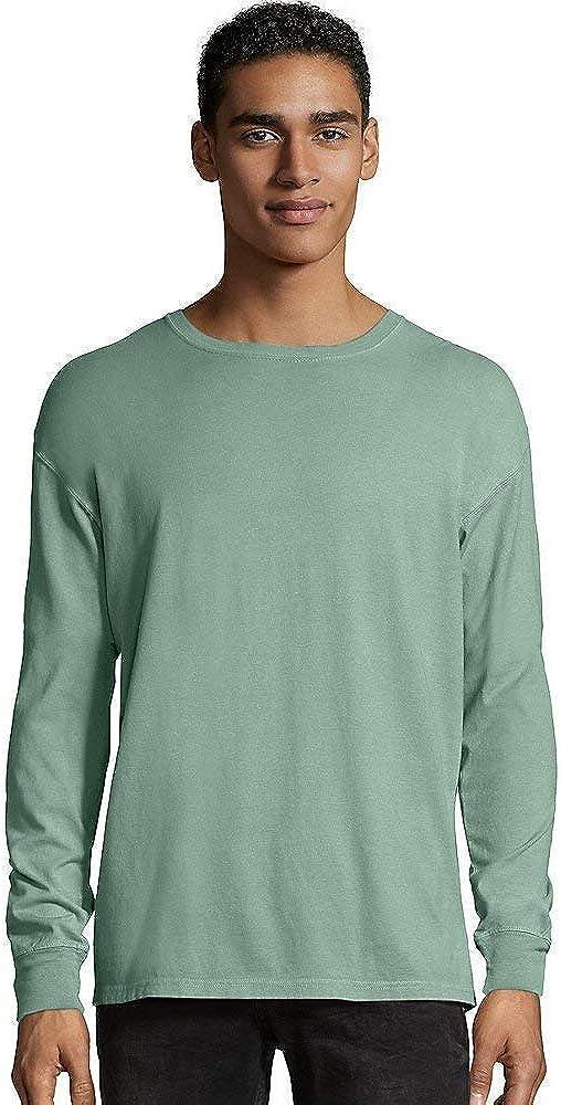 Hanes Men's ComfortWash Garment Dyed Long Sleeve Tee