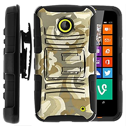 Nokia Lumia 635 Case, Nokia Lumia 630 Case, Two Layer Hybrid Armor Hard Cover with Built in Kickstand and Holster Belt Clip for Nokia Lumia 635, 630 (AT&T, Sprint, T Mobile, Cricket, Virgin Mobile, Boost Mobile, MetroPCS) from MINITURTLE | Includes Screen Protector - Alligator (Nokia Lumia 635 Cases For Guys)