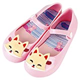 jellies for kids - iFANS Girls Princess Jelly Shoes Mary Jane Flats Cute Fox For Toddler Little Kids