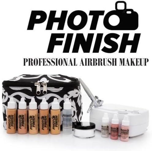 専門家写真仕上げ用エアブラシ化粧システムキット 中から上級-輝き、耐水性、耐汗性、ぼけ無し、完全な適用範囲