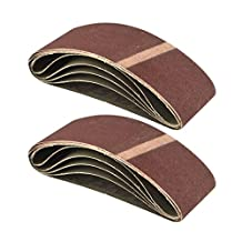 Belt Power Finger File Sander Abrasive Sanding Belts 400mm x 60mm 120 Grit 10 PK