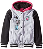 Hello Gorgeous Little Girls' Sherpa Lined Fleece Varsity Jacket
