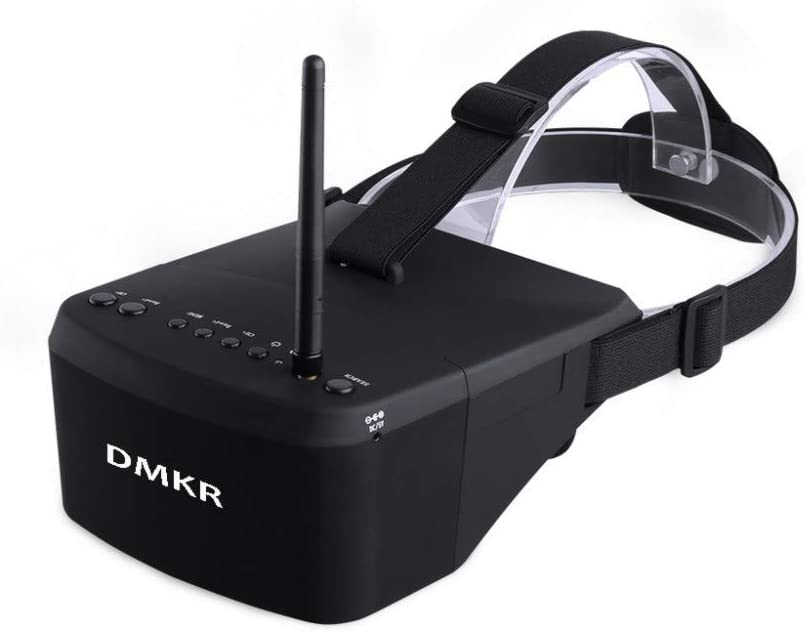 DMKR DR800 EV800 5 Inches 800x480 FPV Goggles Video Glasses 5.8G 40CH Raceband Auto-Searching Build in Battery