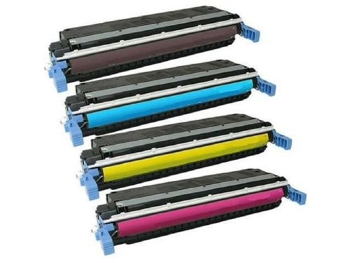 HQ Supplies © Professionally Remanufactured Replacements for HP 645A Toner Cartridge Set, HP 9730A C9731A C9732A C9733A Toner Cartridge Set (Black, Cyan, Yellow, Magenta) for use in HP 5500n, 5500dn, 5500hdn, 5550n, 5500dtn, 5500, 5550dtn, 5550, 5550hdn