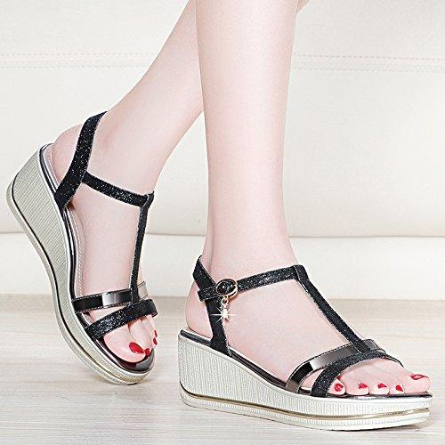 HUAIHAIZ HUAIHAIZ HUAIHAIZ Damen High Heels Pumps Sandalen dick sexy und elegant high-heel Schuhe Abend Schuhe b10a73