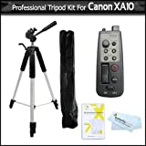 8 Function Lanc Remote Control Kit For Canon XA10 HD Professional Camcorder Includes 8 Function LANC Remote Control Handle + Pro 72'' Super Strong Tripod + LCD Screen Protectors + MicroFiber Cleaning Cloth