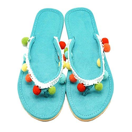 Violet Tassel Décontracté Beach Taille Multicolor Dames Sandale Vert Plat EU Chaussures 37 Sweet avec Holiday EU en Femme pour Slip Été Tongs Couleur Slipper Daim Toe 36 Filles Talon Clip on 4TT0BS1q