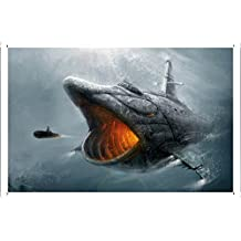 Fish Submarine Metal Plate Tin Sign Poster Wall Decor (20*30cm) By Jake Box
