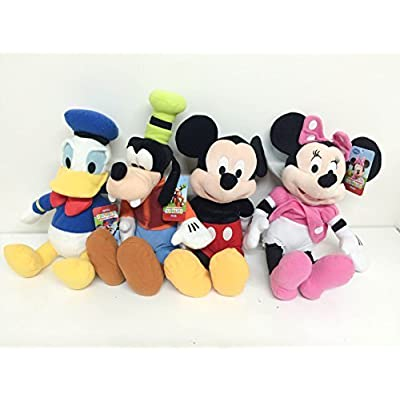 "Mickey Mouse, Minnie Mouse, Goofy and Donald Duck Plush 15"": Toys & Games"