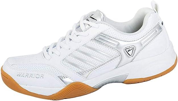 XFQ Chaussures De Badminton Hommes Casual Lightweight Courir Baskets Elasticit/é Non-Slip Chaussures De Tennis pour La Formation De Remise en Forme Comp/étition Int/érieure,Rouge,39EU