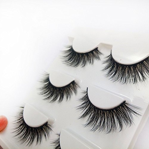 05df37300b7 ... Trcoveric 3D Fake Eyelashes Makeup Hand-made Dramatic Thick Crisscross  Deluxe False Lashes Black Nature ...