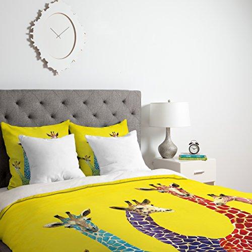 Deny Designs Clara Nilles Jellybean Giraffes Duvet Cover, Qu