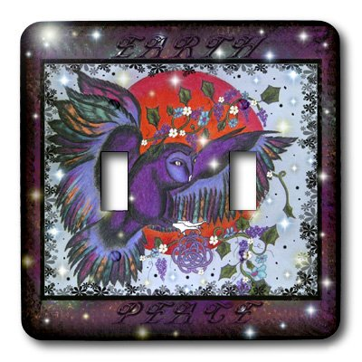 3dRose lsp/_3607/_2 Celtic Peace Blood Moon Double Toggle Switch