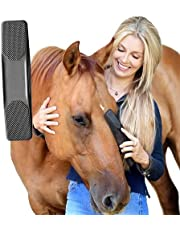 Gentle Groomer - Original for Horses Dogs 6-in-1 Shedding Grooming Massage,Horses Neat Pet Grooming Brush, Strip Hair Gentle Groomer for Horses, Horse Tack Easy to Clean