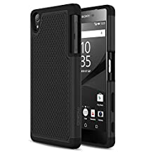 Sony Xperia Z5 Case, MoKo [Shock Absorption] Slim Dual Layer Protective Case with Soft Silicone Bumper and Rigid PC Back Cover for Sony Xperia Z5 5.2 Inch (2015) - Black