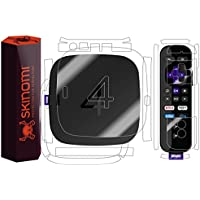 Roku 4 Full Body Skin, Skinomi TechSkin Full Coverage Skin Protector for Roku 4 Front & Back Clear HD Film