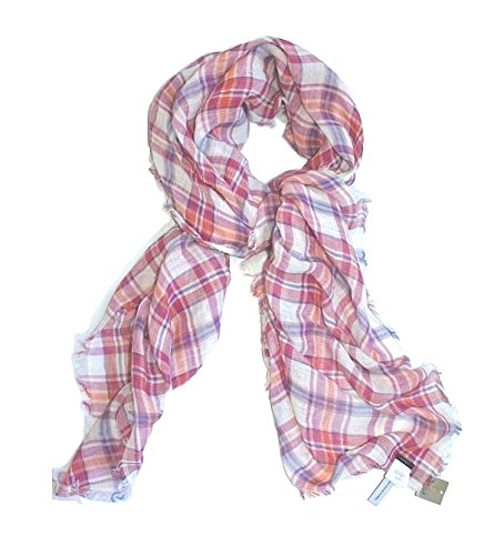 J. Crew Women's Square Pink Plaid Baby Fringe Scarf for sale  Delivered anywhere in USA