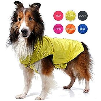 ThinkPet Outdoor Waterproof Reflective Dog Winter Jacket, Dog Rain Coats, Fleece Dog Sweater, XXL, Yellow
