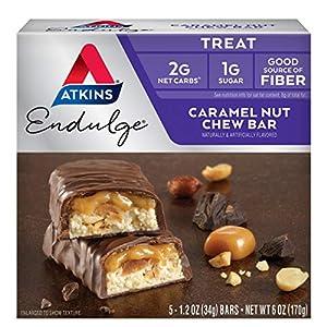 Well-Being-Matters 51PrL4E%2BgcL._SS300_ Atkins Endulge Treat Caramel Nut Chew Bar. Rich & Decadent Treat. Keto-Friendly. (5 Bars)