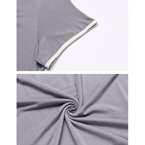 MAXMODA Damen Nachthemd Kurzarm für Schwangere Umstandsmode