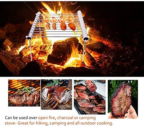 TeRIydF Portable Picnic Barbecue Charcoal Grill for Barbecue Outdoor Hiking Camping Grill