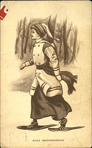 Snowshoeing Women Original Vintage Postcard