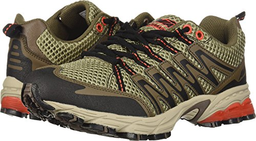 Orange Purple Sneakers - Avia Men's Avi-Terrain Running Shoe, Outback Tan/Chocolate Chip/Calypso Orange, 9 M US