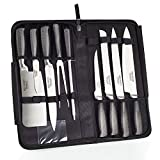 Ross Henery Professional Knives, Eclipse Premium Stainless Steel 9 Piece Chefs Knife Set in Case