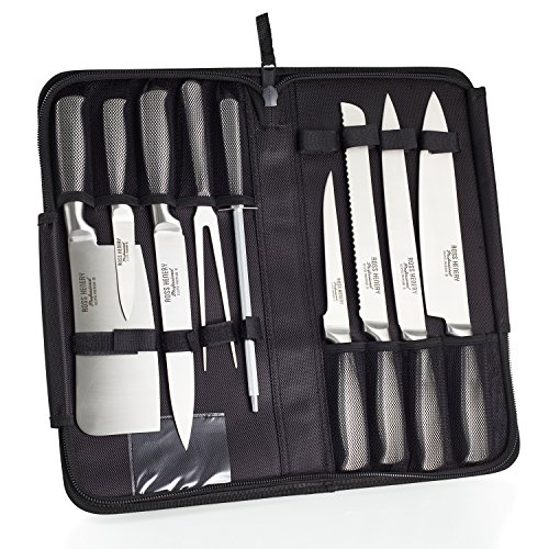 Ross Henery Professional Eclipse Premium stainless Steel 9 piece chefs knife set in carry case by  Ross Henery Professional (Image #1)