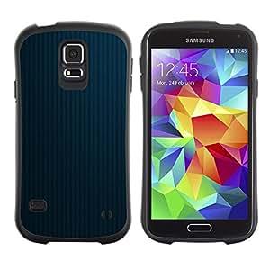 "Hypernova Slim Fit Dual Barniz Protector Caso Case Funda Para Samsung Galaxy S5 [Textura Blue Lines 2""]"