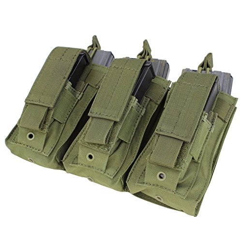 Condor MA55 Triple Kangaroo Airsoft M4 and Pistol Mag Pouch (Olive Drab)